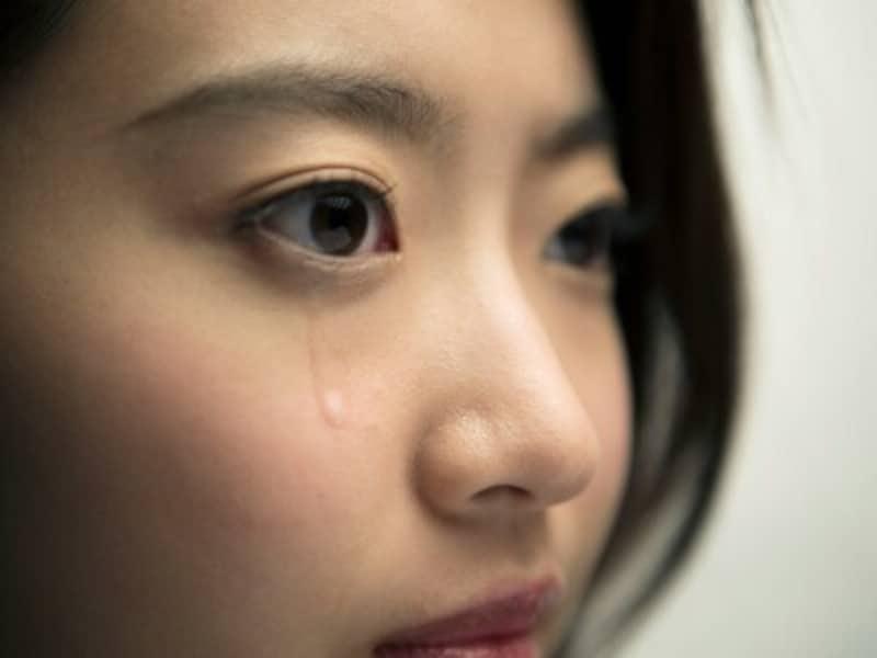 女性の泣き顔