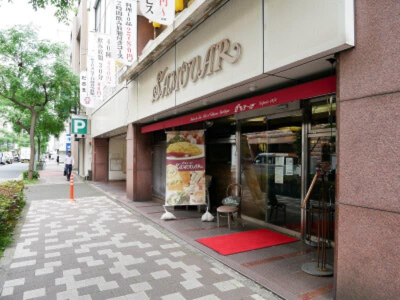 サモアール馬車道店の入口は2ヵ所あります