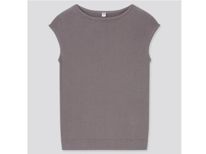 ユニクロ UVカットスーピマコットンフレンチスリーブセーター 1990円(税込)