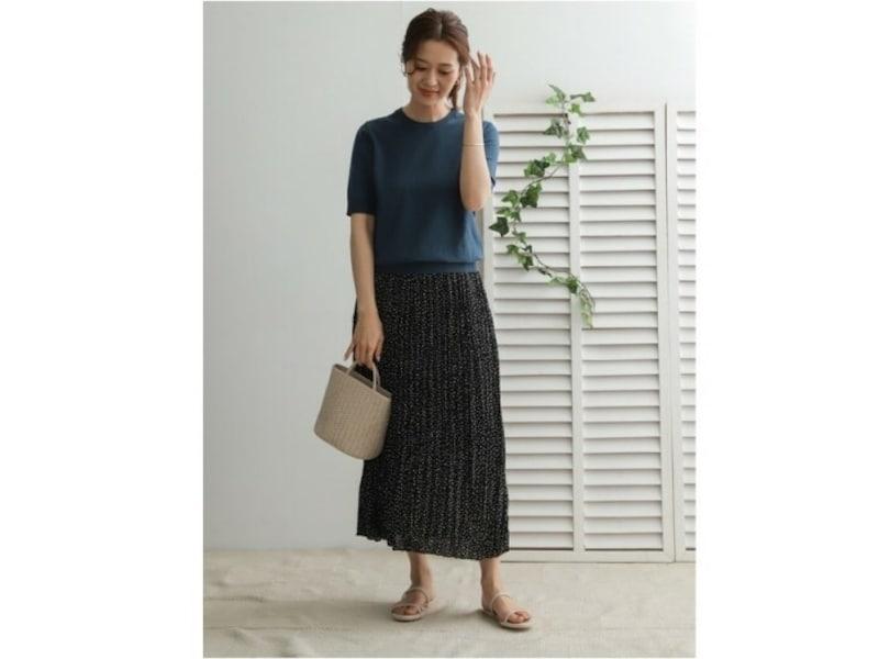 【OKコーデ】ロングスカート&フラットシューズでもきれいめな印象が作れます