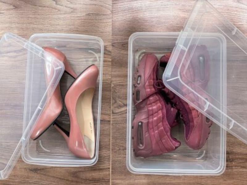 ダイソーの透明靴ケース