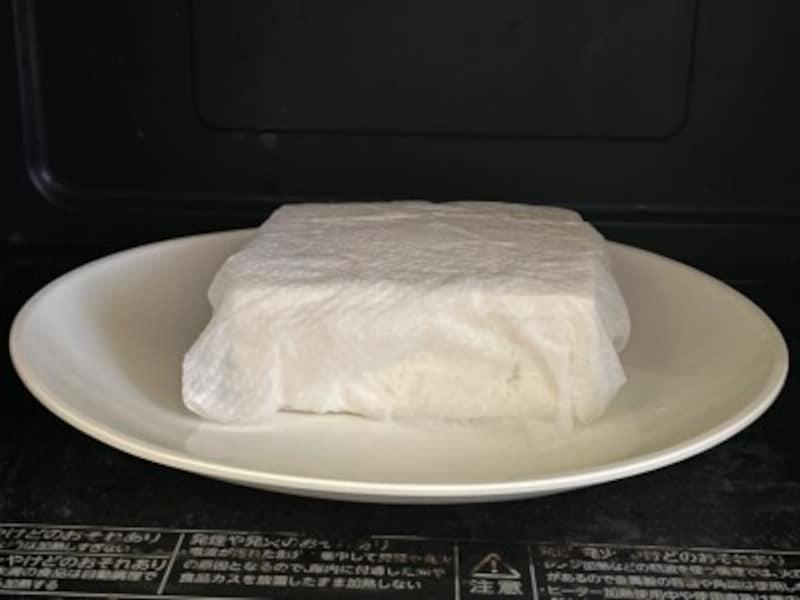 電子レンジを使った豆腐の水切り