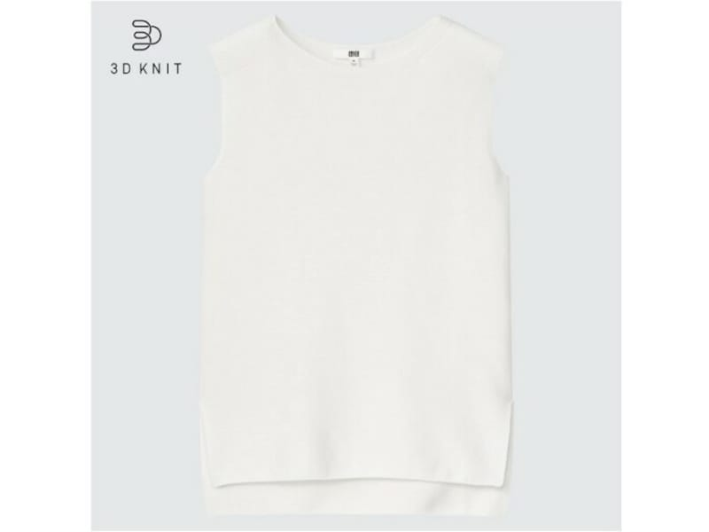 ユニクロ 3Dコットンクルーネックセーター 2990円(税込)