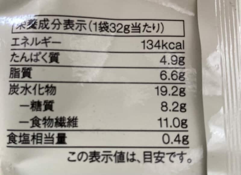 ひと袋あたりの糖質は、8,2g
