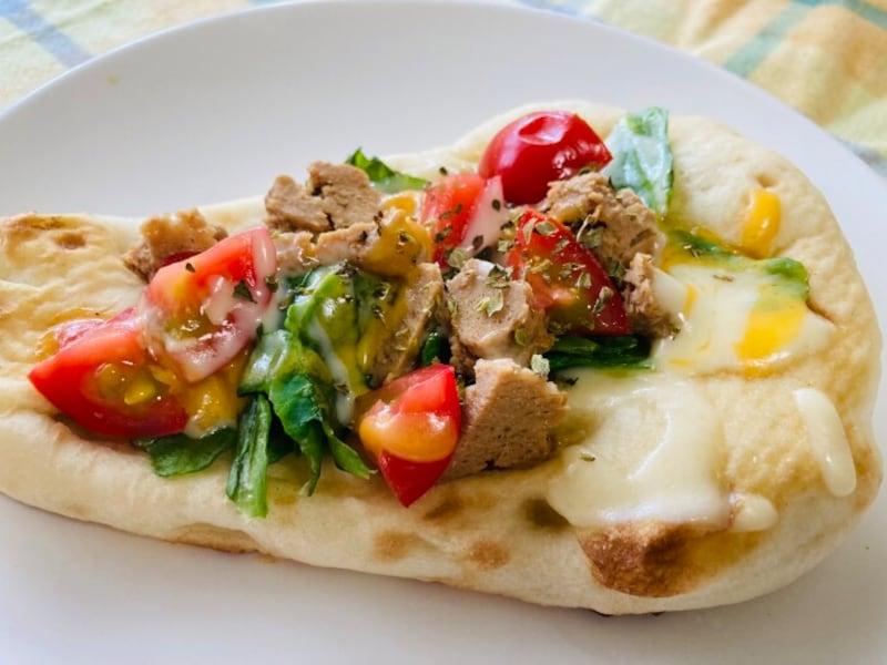 栄養バランスもばっちりの「ナンピザ」