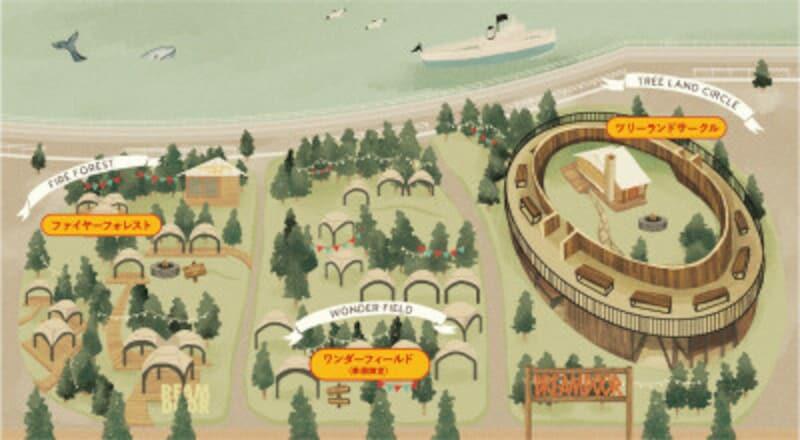 DREAMDOORYOKOHAMAHAMMERHEADエリアマップ