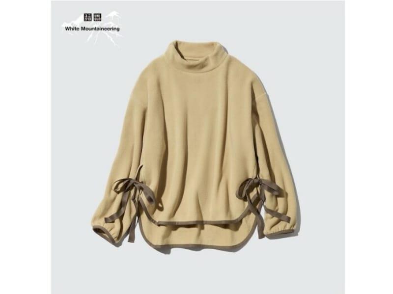 ユニクロ フリースオーバーサイズモックネックプルオーバー 2990円(税込)