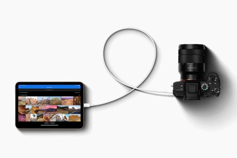 USB-Cは、カメラや外部ストレージ、最大4Kのディスプレイなど、さまざまなアクセサリと接続できる(出典:プレスリリース)