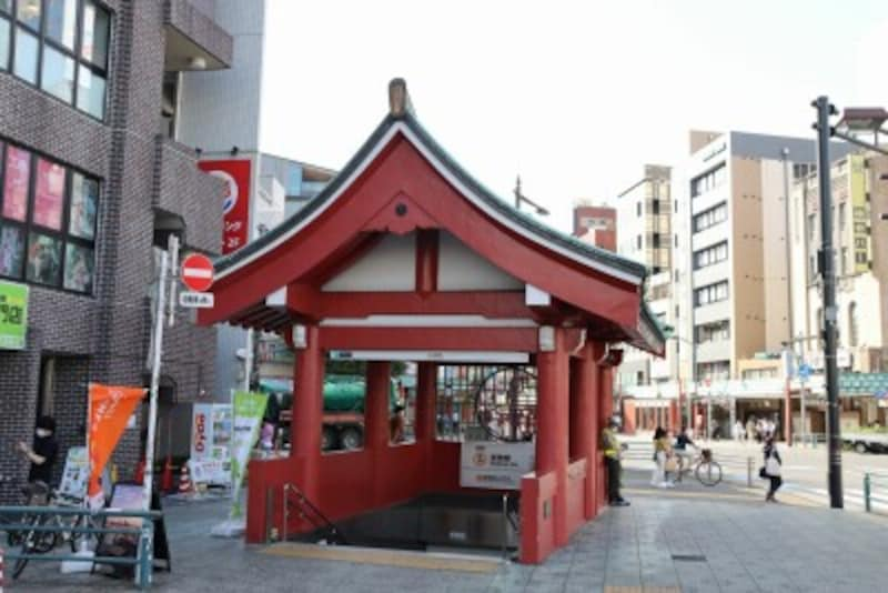 浅草駅の4番出入口