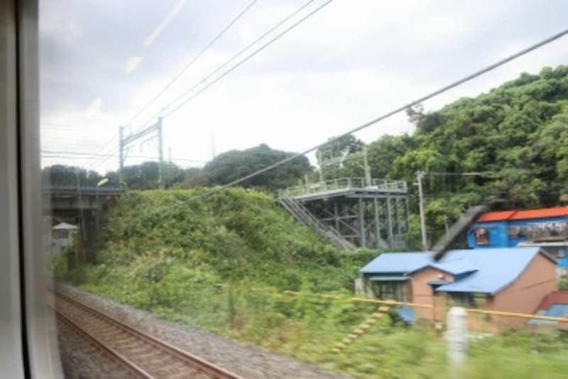 京急線との交差地点