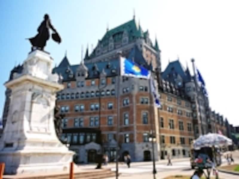 ケベックの象徴、シャトー・フロンテナック。ヨーロッパの古城を模した1893年創業の高級ホテルで、現在も営業中