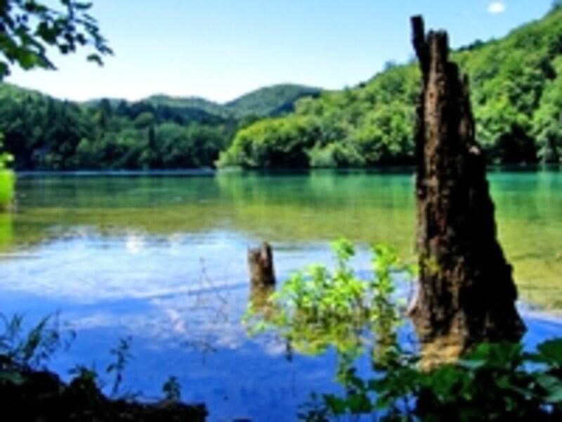 刻々と色彩を変えるプリトヴィッチェの湖。ブナなどの原生林を階段状に貫く16の湖とおよそ100の滝が不思議な景観を生み出している
