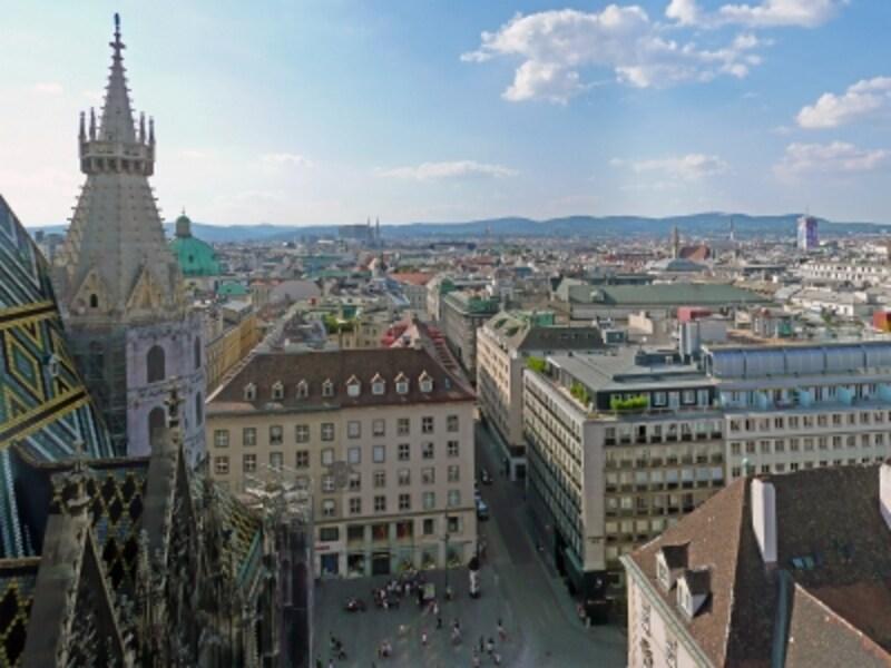 「ウィーン歴史地区」、シュテファン寺院からの眺め