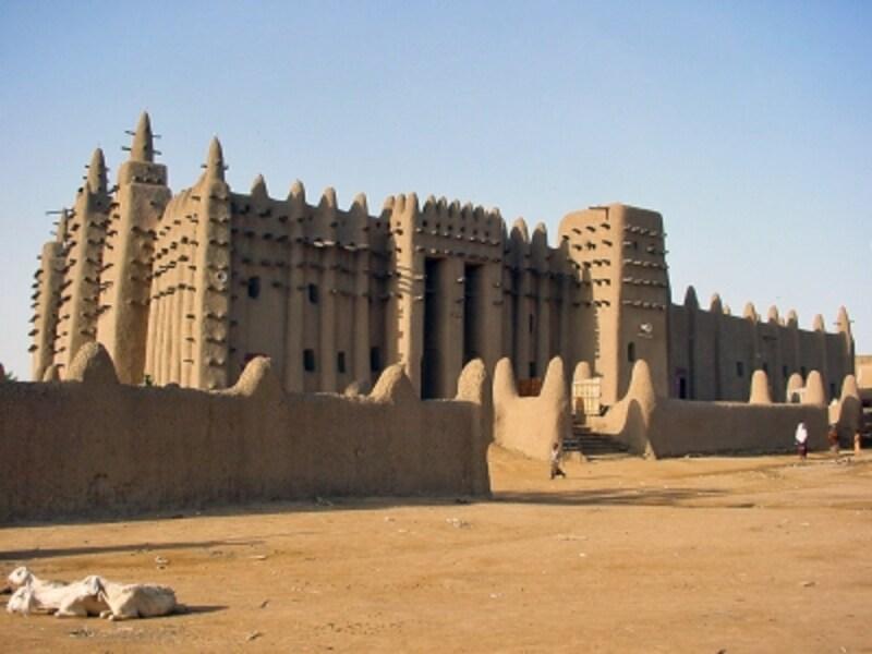 マリの「ジェンネ旧市街」、グレート・モスク(泥のモスク)