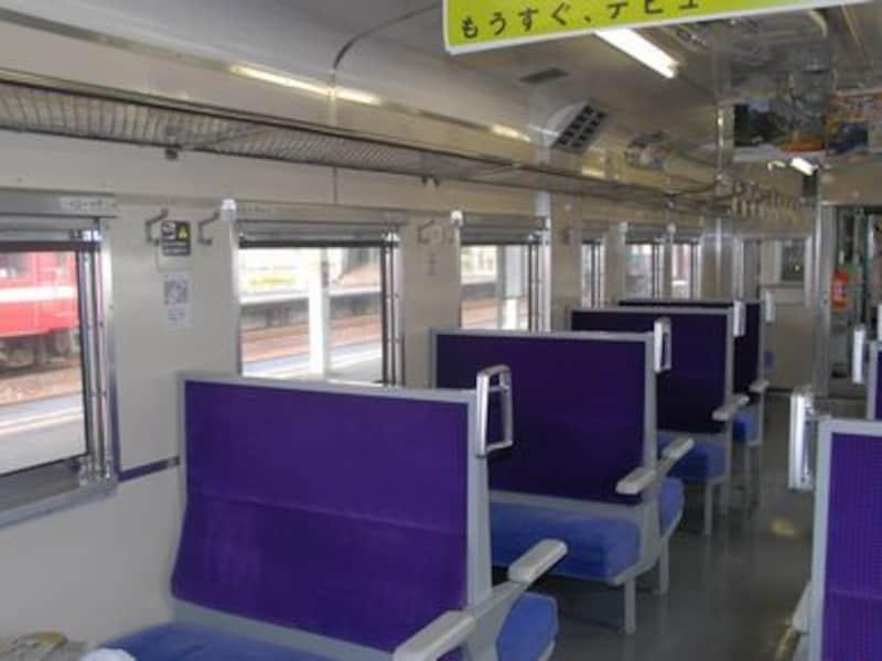 日高本線の車内