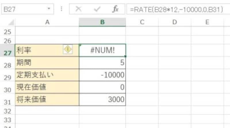 Excelで#NUM!が!?