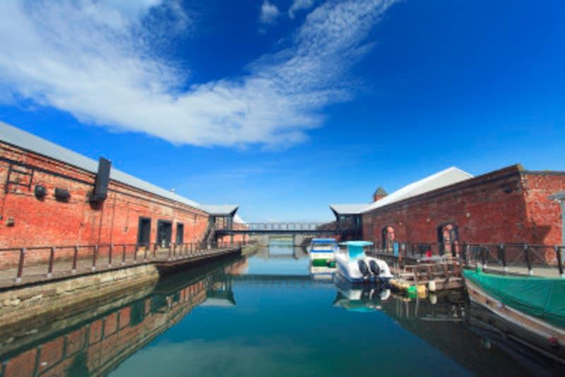 金森赤レンガ倉庫とBAYはこだて運河