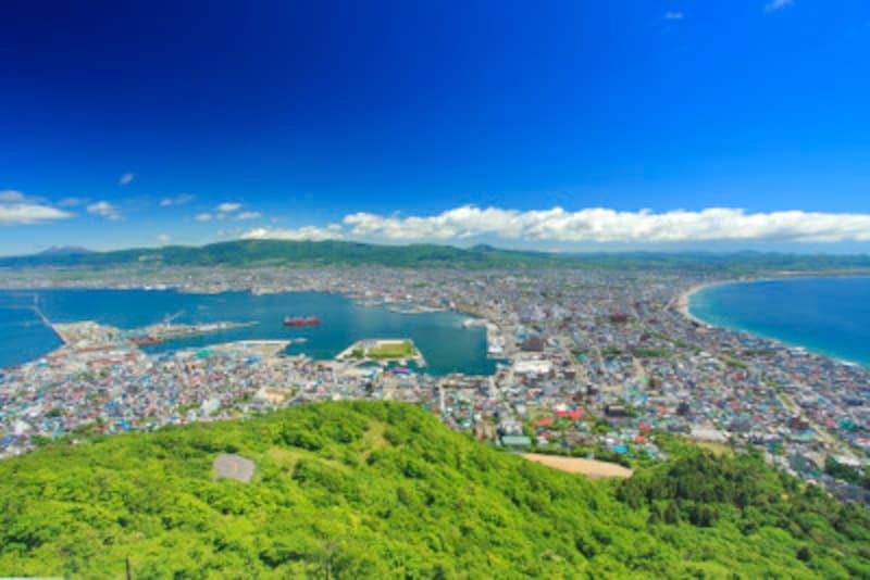函館山から望む函館市街