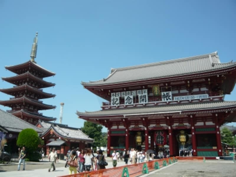 浅草寺の山門『宝蔵門』