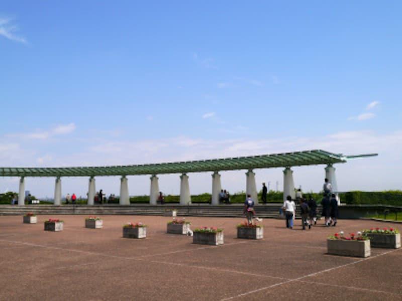 横浜らしい観光地のひとつ「港の見える丘公園」(2014年5月16日撮影)