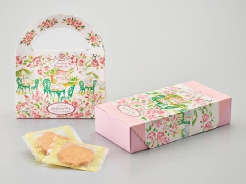 えの木てい「横濱ローズサブレ(8枚入900円税別~)」。バラが描かれたパッケージも魅力(画像提供:ヨコハマ・グッズ横濱001)