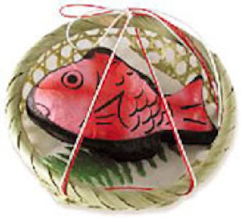 和紙の正月飾り はなひつじ