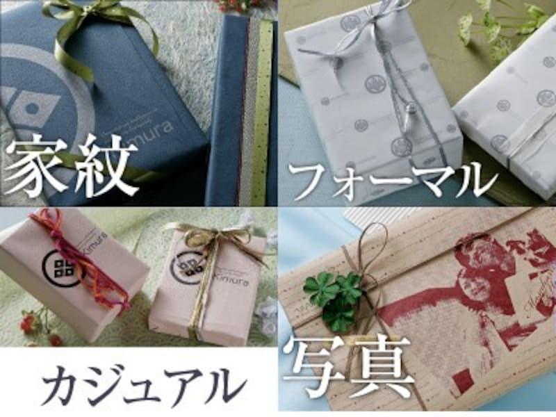 家紋&写真の包装紙