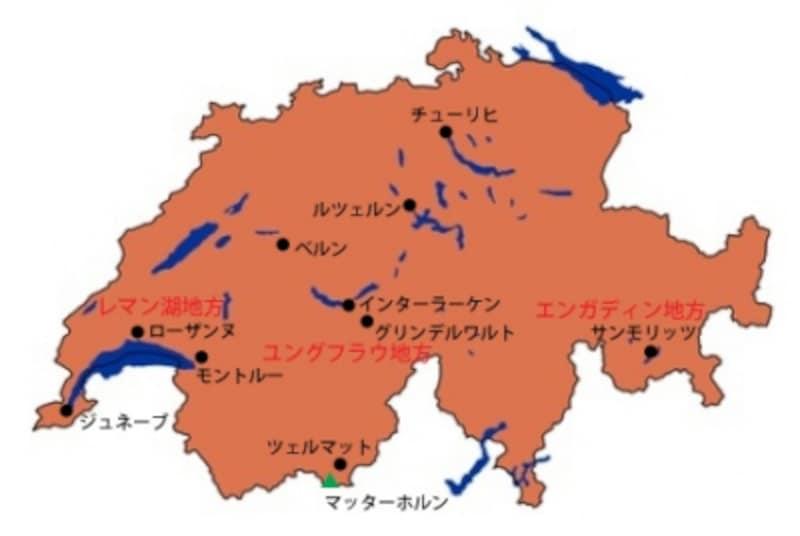 スイス全体地図