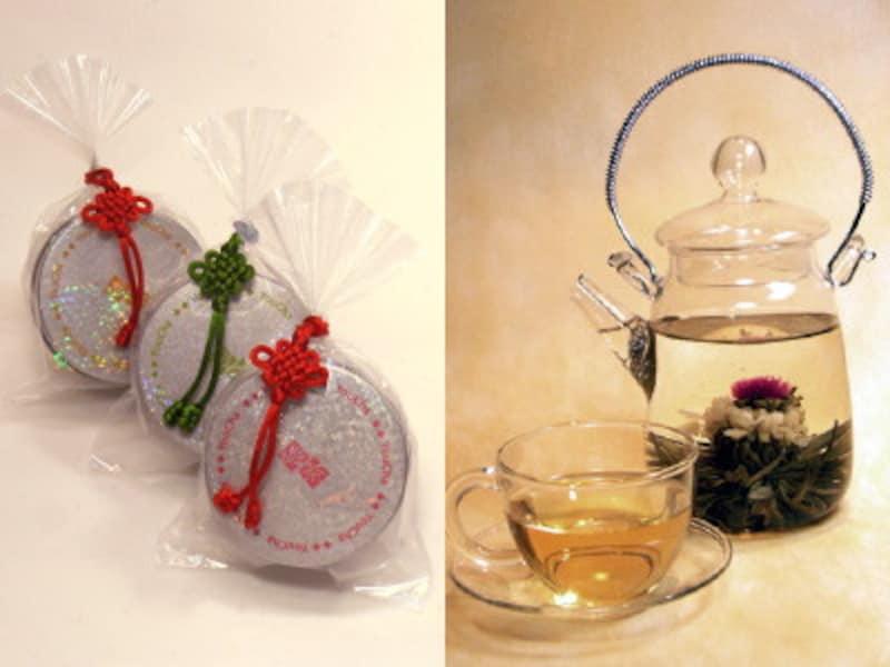 工芸茶3種セットとガラスティーポット
