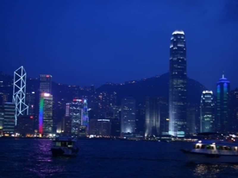 プロムナードから眺める香港島