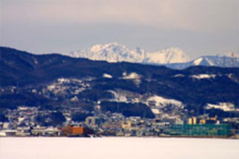 白雪の穂高岳