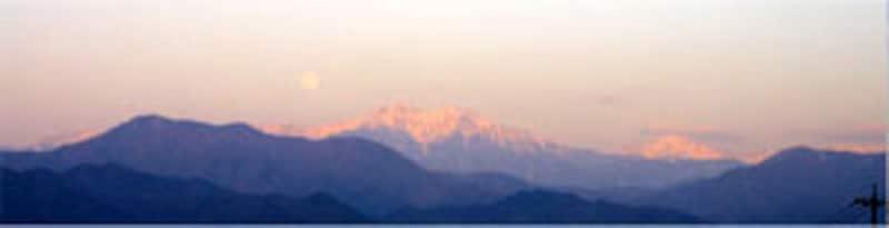 仙丈岳の夕暮れ