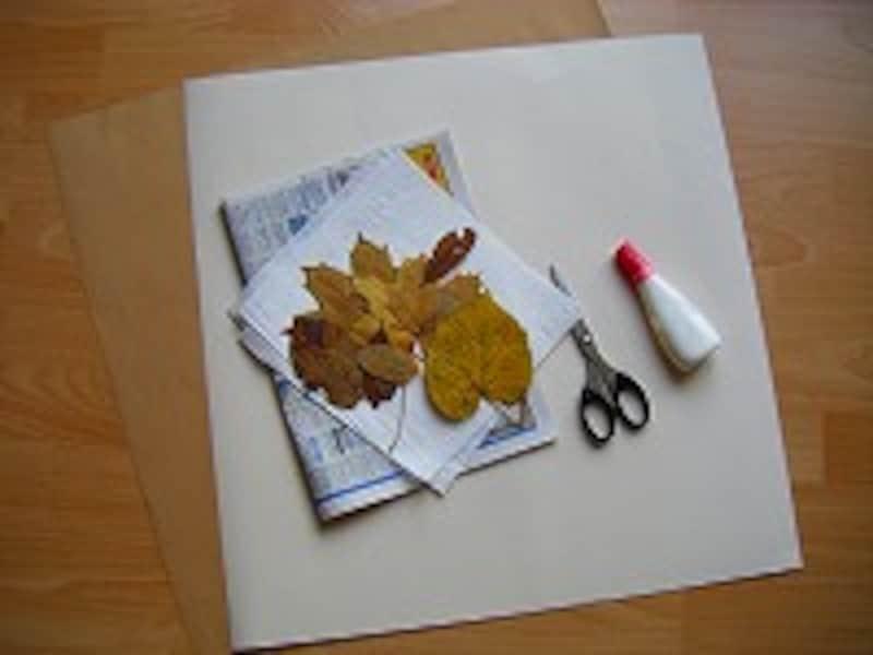 落ち葉アート材料
