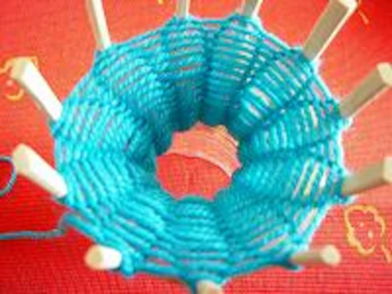 リリアン編み続き1
