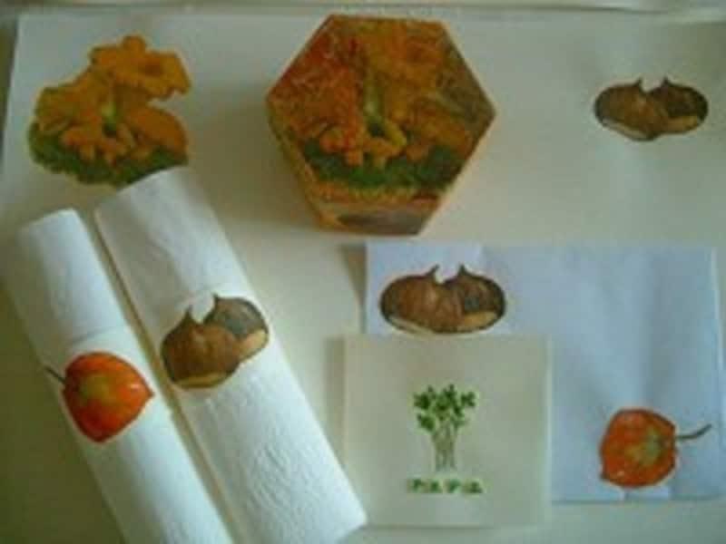 紙ナプキンのモチーフを切り抜いて貼る「デコパージュ」を夏休みにトライ!
