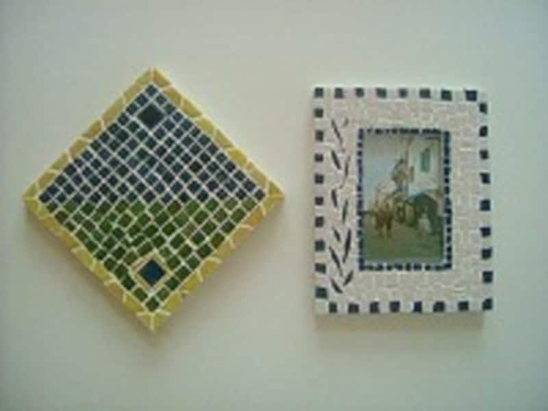 夏休み工作に色とりどりのタイルを組み合させて作る「モザイク装飾」を