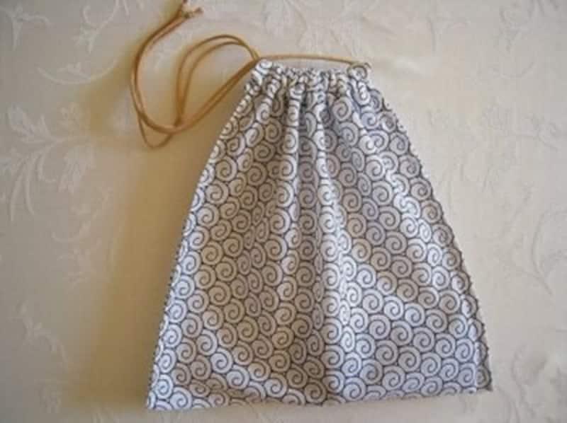 手ぬぐい巾着袋の作り方完成編