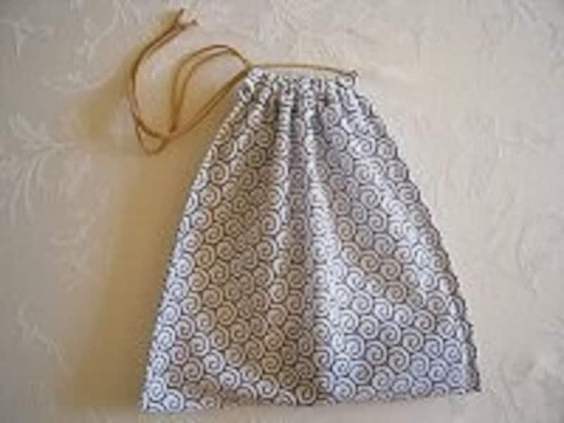 手縫い手ぬぐい巾着袋が完成しました!