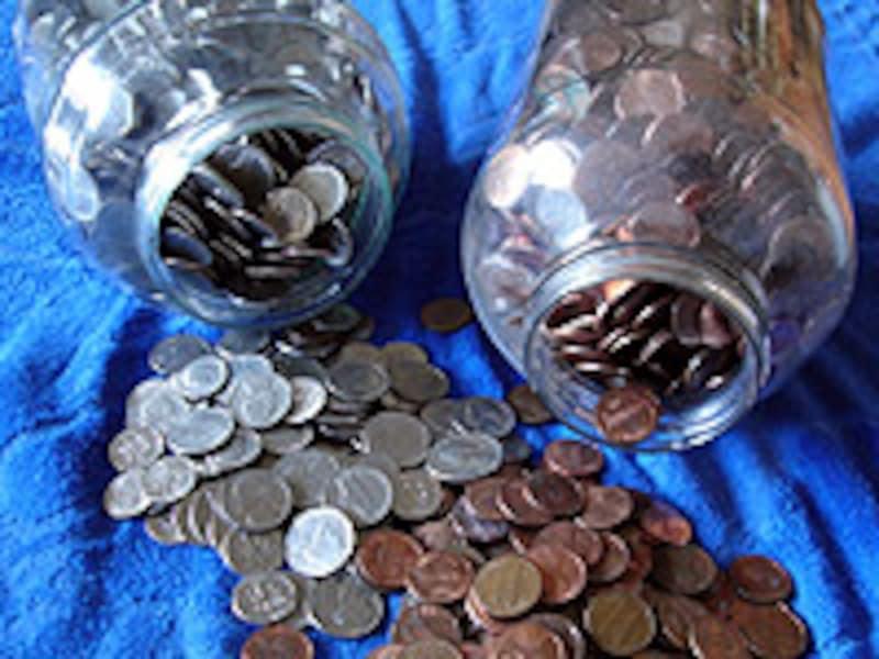 貯まったコイン