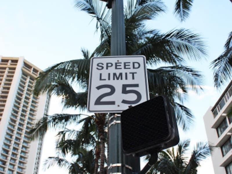 交通標識もマイル表示