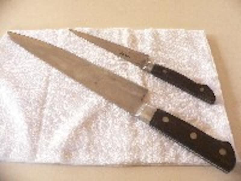 牛刀とぺティナイフ共に鋼製