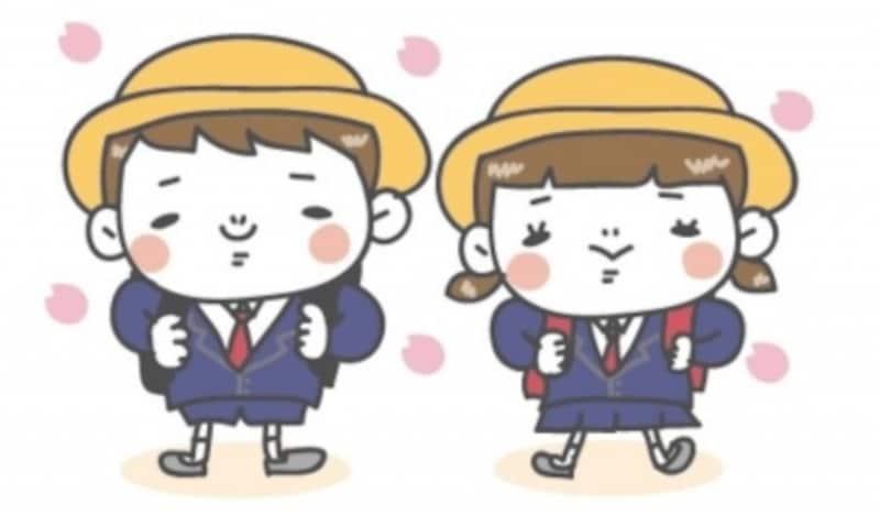 桜・お花見・卒業式のイラスト集/白黒・カラー