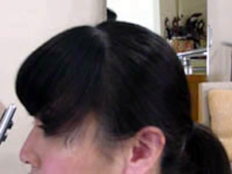 前髪のライン