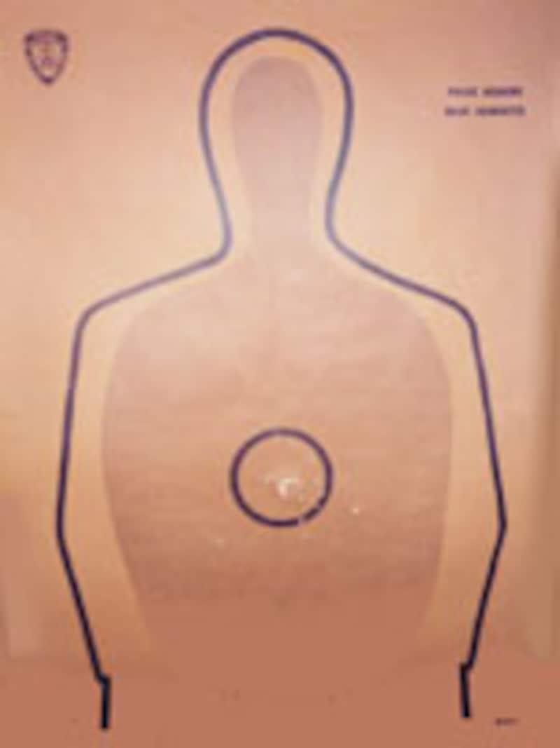 米国ポリスアカデミー射撃訓練用の用紙(ベーシックシルエット)