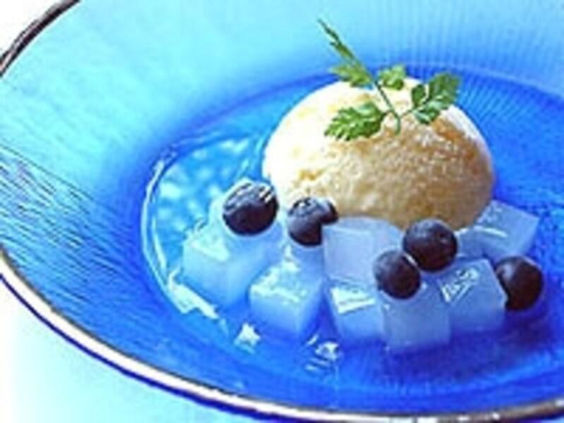 冷たいデザートは冷蔵でしっかりと冷やして