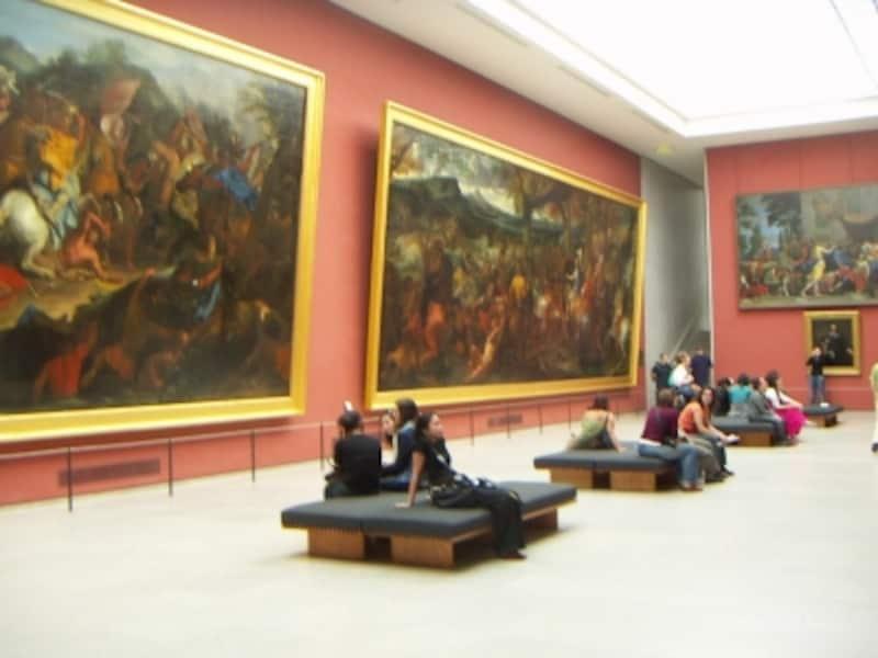 大作が揃うフランス絵画の展示室