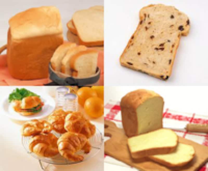 いろいろな手作りパン