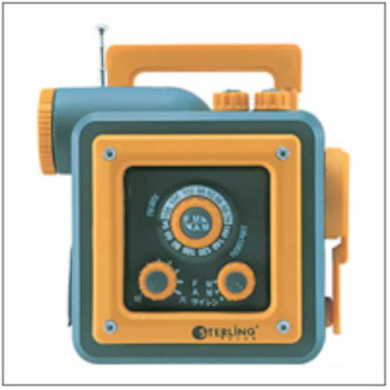 携帯電話充電機能つきラジオライト
