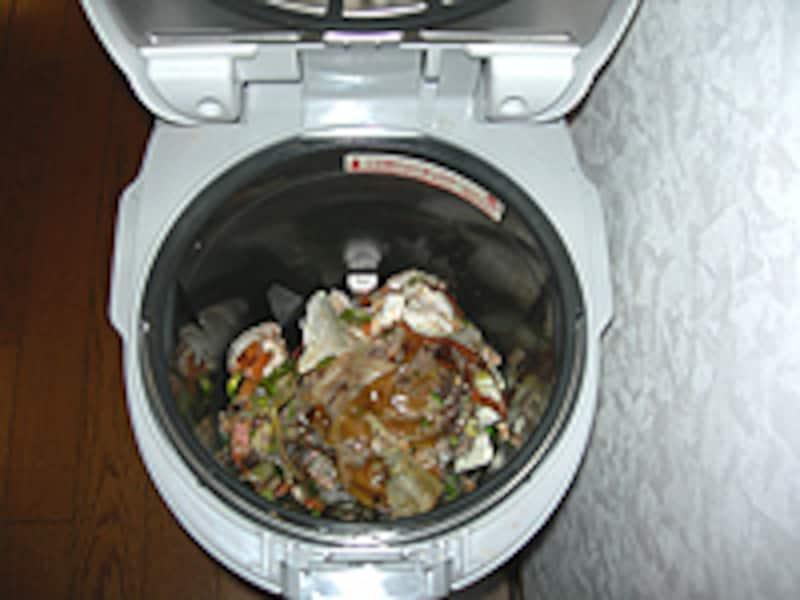 生ゴミ投入イメージ