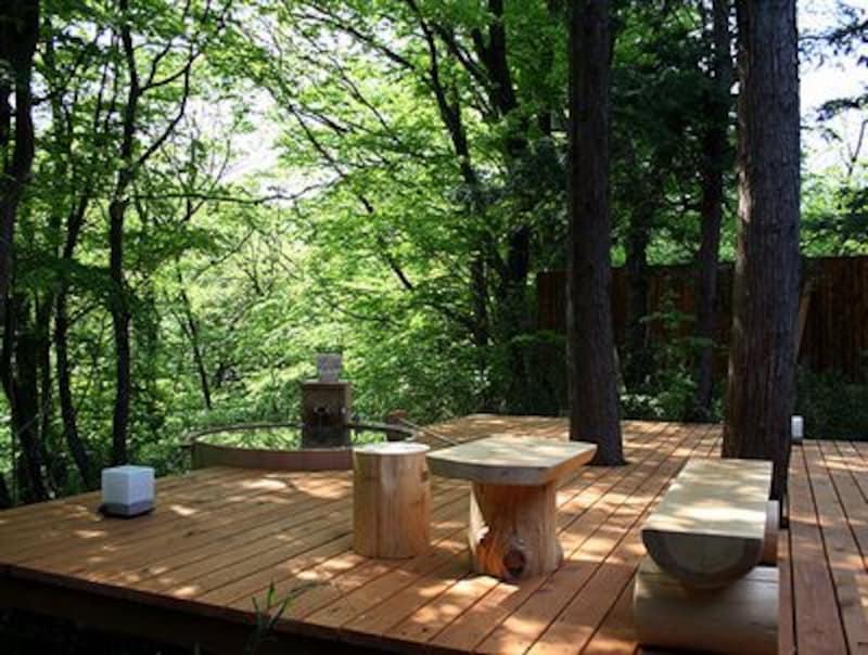 林空露天風呂付き離れのお部屋